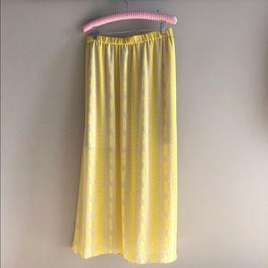 Daniel cremieux yellow and gray maxi skirt